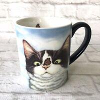 Hugo Hedge Cat Butterfly Coffee Mug Ceramic Tea Cup Lang Funny Cross Eyed 14 Oz