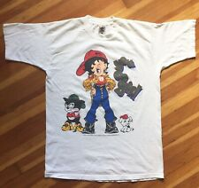 RARE VTG 1993 BETTY BOOP You Go Girl HIP-HOP T-Shirt Double Sided Print - LARGE