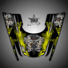 GRAPHICS DECAL WRAP POLARIS GEN II 2, 1999 2000 2001 2002 2003 OUTLAW Yellow