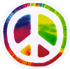 Psychedelic Peace Sign - Bumper Sticker / Window Art Decal