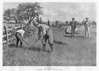 GOLF TOURNAMENT DAY THE LOST BALL BY A. B. FROST 1898 CADDY GOLF COURSE OFFICIAL