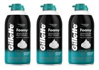 3 x Gillette Sensitive Foamy Shaving Foam Cream Comfort Glide Shave 11oz / 311g