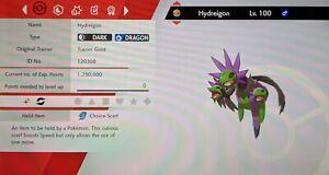 Shiny Hydreigon 6IV Max EVs Competetive Pokemon Sword Shield FAST DELIVERY