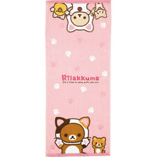 San-X Rilakkuma Face Towel laid-back cat Pink (CM64001) 24c67