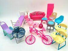 Barbie Doll Dream House Glam Furniture Lot Sofa Bed Gloria Chairs Class Desks