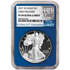 2017-W Proof $1 American Silver Eagle NGC PF69UC Baltimore Show Black Label Red