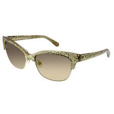 f1f2db0bbdba Kate Spade Shira W51 Gold Glittered Plastic Sunglasses Brown Gradient Lens