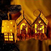 fête de mariage lampe à led la pendaison noël ornement noël wood house