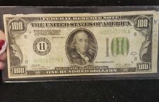 Series 192-A $100 dollar Federal Reserve Note, redeemable in gold