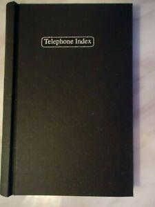 BLACK ALPHABET TELEPHONE INDEX ADDRESS BOOK - HARDBACK - BRAND NEW