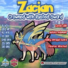 Pokemon Sword And Shield Zacian 6iv/Pokerus/Crowned/Legendary/Rusted Sword/