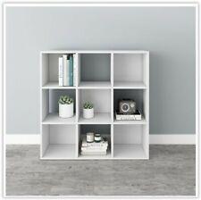Small White Bookshelf Unit Kids Bookcase Storage Office Hall Cupboard Rack Cube