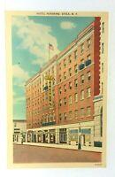 Utica New York Hotel Pershing Linen Vintage Postcard