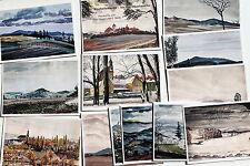26072 13 Künstler Postkarten Bischofswerda Tor Oberlausitz Aquarelle PAUL KEGEL
