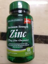 Holland & Barrett Maximum Strength Zinc Gluconate 100x Vegan Tablets 25mg