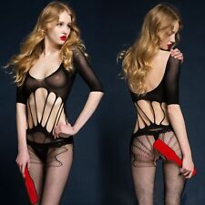 Sexy Erotico Mesh e balza Tuta gatto stile All-in-One Corpetto e Collant - (842)