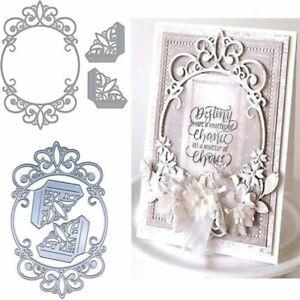 Metal Cutting Dies Scrapbook Card Embossing DIY Oval Frame Template Stencil