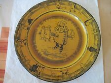 """Royal Doulton Skaters Ware """"Pryde Goeth Before Fall""""  Plate."""