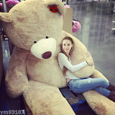 200CM SUPER HUGE TEDDY BEAR (ONLY COVER) PLUSH TOY SHELL (WITH ZIPPER) 79""