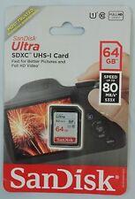 Sandisk Ultra SDXC 64GB 80MB/S C10 Flash Memory Card (SDSDUNC-064G-AN6IN)