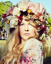 HANDMADE Large Flower Crown, blush, cream, yellow, artificial flowers