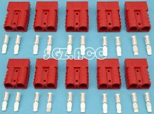 10 X 50Amp Connector Anderson Style Plug Dual Battery 4WD Trailer Caravan red