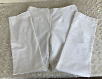 So Slimming By Chico's Women's Size 1 Short Side Zip White Pants 30 x 28