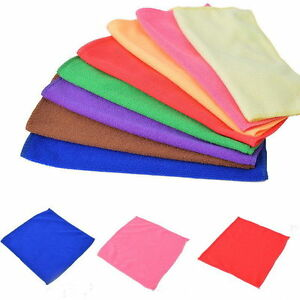 10pcs Microfibre Cleaning Auto Car Soft Cloths Wash Towel Duster-20x20cm/25x25cm