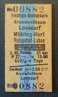 Eisenbahn Fahrkarte  1976  Krummnußbaum - Reisenhof-Lehen