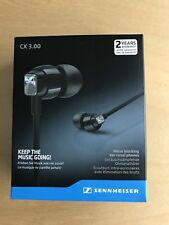 Sennheiser CX 3.00 In-Ear Premium Headphones - Black - For Phones Tablets MP3's