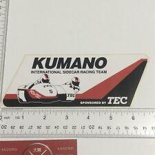 Kumano International Sidecar Racing Team Sticker Decal TEC Honda Suzuki Yamaha