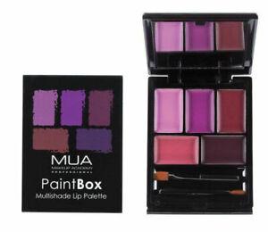 MUA Pro Paintbox Lip Palette Imperial Plums Lipstick Purple Matte & Gloss