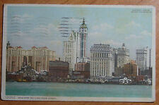 1909 POSTCARD NEW YORK SKY LINE FAMOUS VIEW FROM NEW JERSEY SENT TO LOS ANGELES