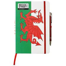 Wales Flag Notebook - Hardback A5 - Welsh Flag Journal - Welsh Red Dragon