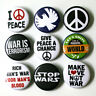 "Peace Anti-War Badges 1"" Buttons Pins x 9 - Size 25mm Badge Pinbacks"