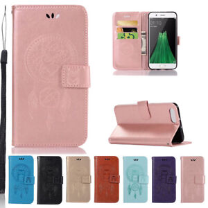 For Oppo A57 A59S A73 F5 R11 R9s F3 Plus Owl Pattern Flip Leather Wallet Case