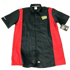 Dickies Two Tone Work Shirt Short Sleeve - Men's Size L - Black / Red