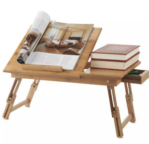 Bamboo Lapdesk Laptop Desk Stand Tray Notebook Portable Folding Home Office.