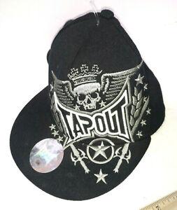 Tapout Black Trucker Hat  Skull Tek-Flex Men's Size L/XL