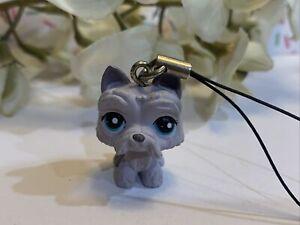 Littlest Pet Shop LPS Authentic 1201 Light Purple Scottie Dog Tomy Gaacha Dangle