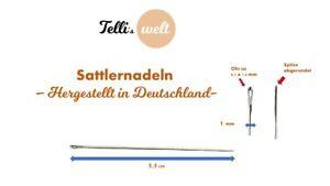 5 Sattlernadeln stumpf  Sattler Leder Nadeln 5,5cm hergestellt in Deutschland