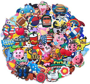 100 Mixed Pvc Shoe Charm Lot Different Charms Fit For Croc Jibbitz Wristband Wow