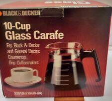 Vintage Black & Decker / G.E. 3351D 10 Cup Glass Carafe