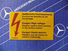 Mercedes Aufkleber Luftfilter W123 W124 W126 Original! Sehr alt! Lagerfund NOS!