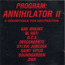 Program Annihilator II CD punk Bad Brains Descendents Soundgarden Blast Swa DC3