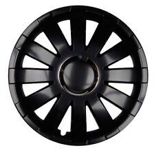 4x Premium Diseño Tapacubos rueda 15 pulgadas #20 Negro Cromo Anillo
