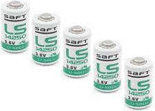 Battery Saft LS 14250 1/2 AA 1200 mAH Lithium Thionyl Chloride 3,6v - 5 Pcs