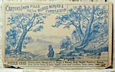 Puzzle Find Animals Victorian Trade Card Carters Iron Pills