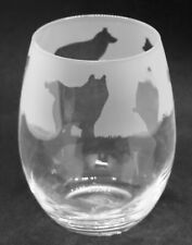 More details for husky frieze boxed 36cl crystal stemless wine / water glass