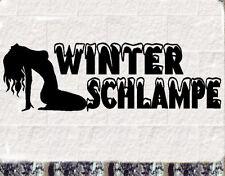 Winterschlampe Aufkleber Winterauto Saisonfahrzeug Bitch Sticker bomb